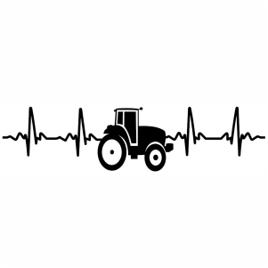Tractor With Heartbeat svg cut file