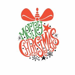 Trendy merry christmas svg file