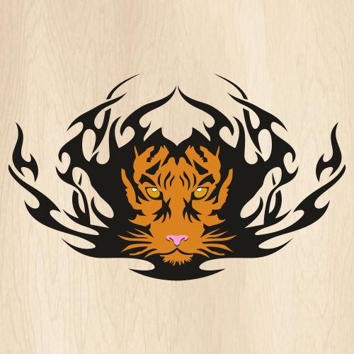 Tribal Tiger Svg