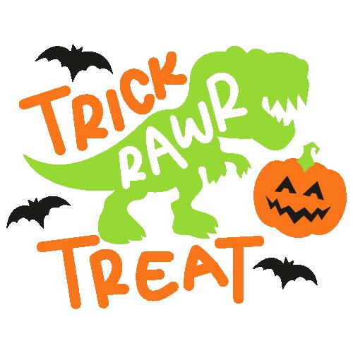 Trick Rawr Treat Halloween Svg