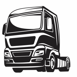 truck silhouette front vector file