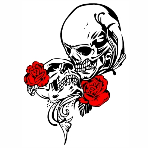 True love story Skull svg cut
