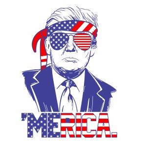 Trump Merica Vector