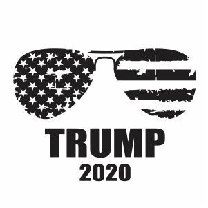 Trump 2020 Glasses Svg Donald Trump 2020 Svg Svg Dxf Eps Pdf Png Cricut Silhouette Cutting File Vector Clipart