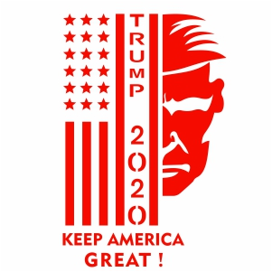 Keep America Great Usa Flag 2020 Svg Trump Keep America Great Svg Svg Dxf Eps Pdf Png Cricut Silhouette Cutting File Vector Clipart