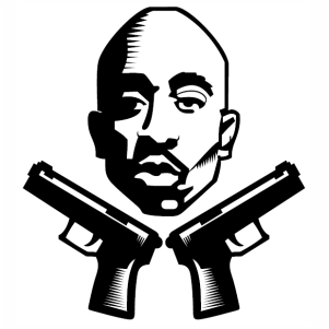 Portrait Tupac Shakur Vector