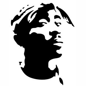 Tupac Shakur Stencil