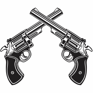 Crossed Pistol vector