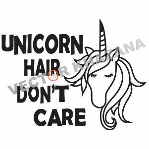 Free Unicorn Hair Dont Care Logo Svg