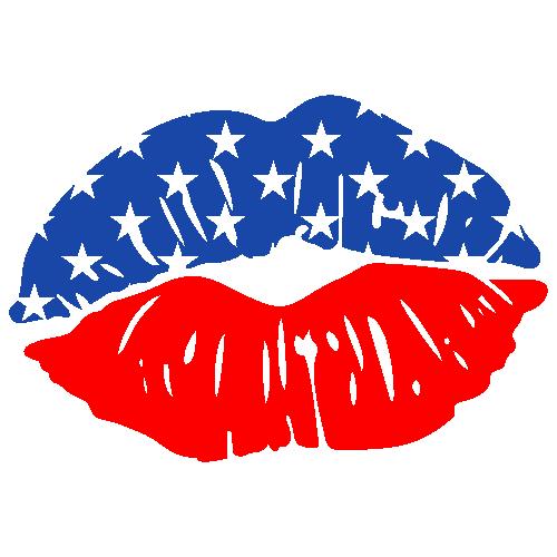 USA Lips Svg