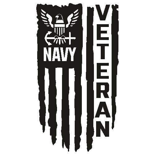 US Navy Veteran Flag Svg