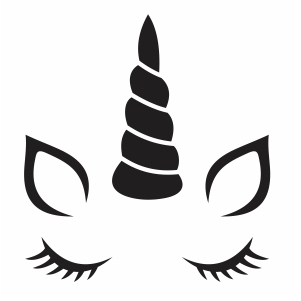Unicorn Face Silhouette Svg Unicorn Face Horn Svg Cut File Download Jpg Png Svg Cdr Ai Pdf Eps Dxf Format