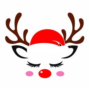 Unicorn Deer Santa Cap Svg File Unicorn Deer Svg Cut File Download Jpg Png Svg Cdr Ai Pdf Eps Dxf Format