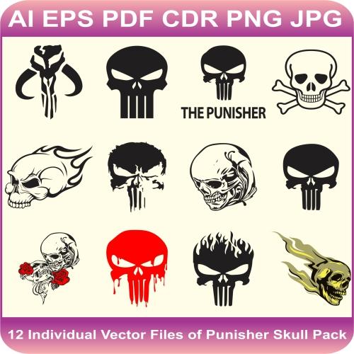 skull design pack vector