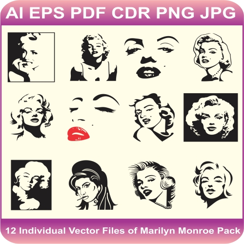Marilyn Monroe vector pack design