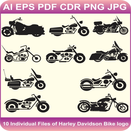 Harley Davidson Bike vector file