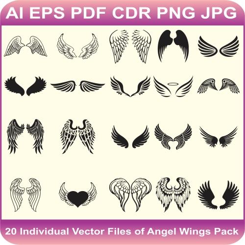 wings pack vector design