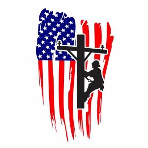 Lineman American Flag Svg