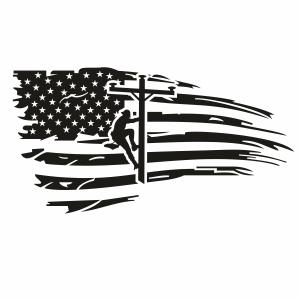 USA Lineman Flag Svg