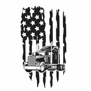 Truck Distressed Flag Vector