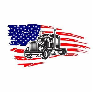 Trucker Flag Vector