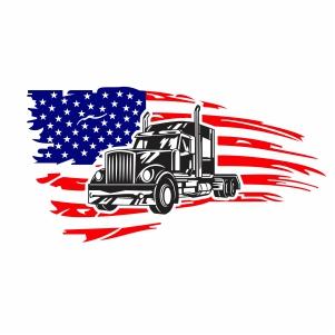 Trucker Flag Svg
