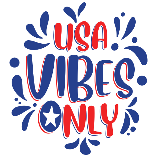 Usa Vibes Only Svg