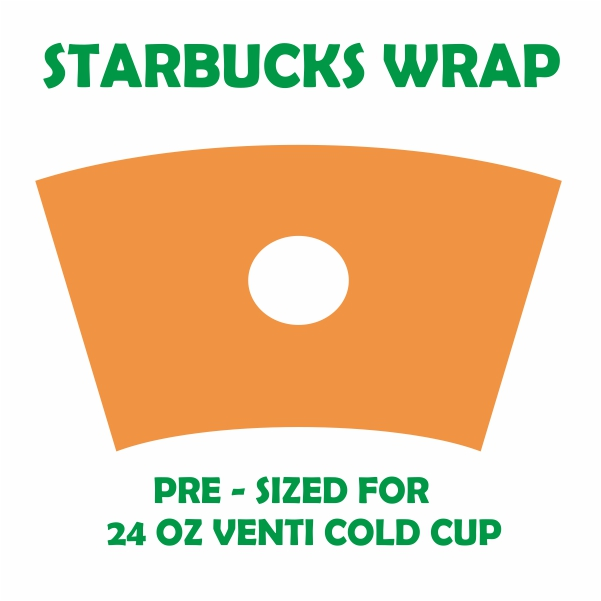 Full Wrap Template for Starbucks Svg