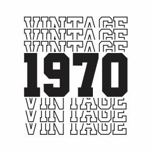 Vintage 1970 50th Birthday vector