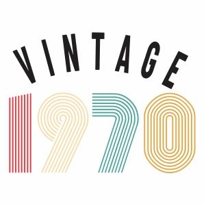 Vintage 1970 vector