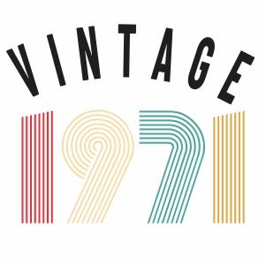 Vintage 1971 vector