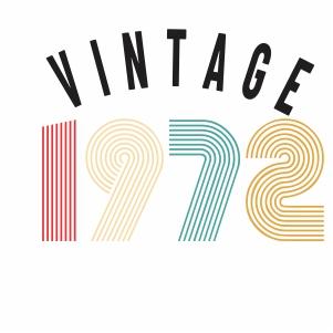 Vintage 1972 vector