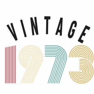 Vintage 1973 vector