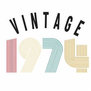 Vintage 1974 vector