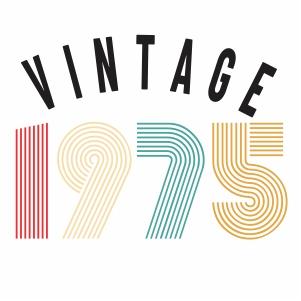 Vintage 1975 vector