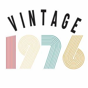 Vintage 1976 vector