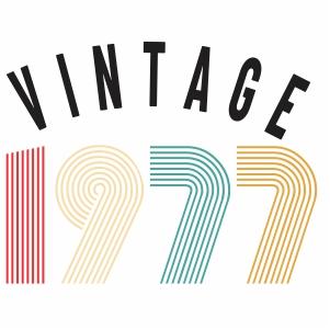 Vintage 1977 vector