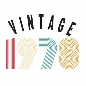 Vintage 1978 vector