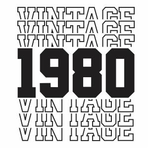 Vintage 1980 40th Birthday vector