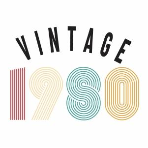 Vintage 1980 svg