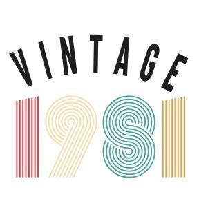 Vintage 1981 svg