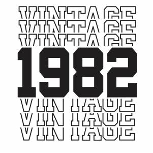 Vintage 1982 38th Birthday vector