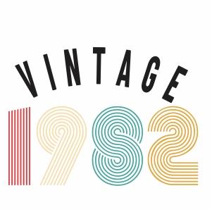 Vintage 1982 svg