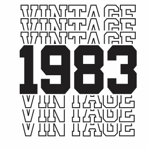 Vintage 1983 37th Birthday vector