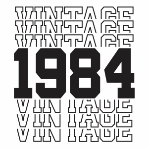 Vintage 1984 36th Birthday vector