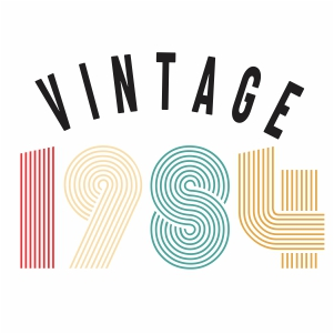 Vintage 1984 svg