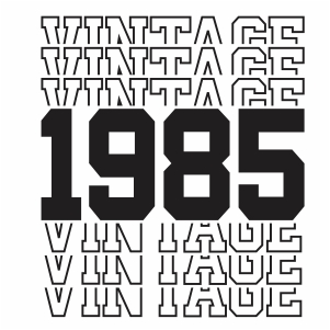 Vintage 1985 35th Birthday vector