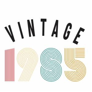 Vintage 1985 svg