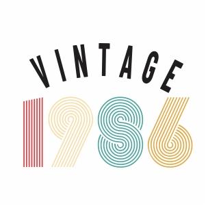 Vintage 1986 svg