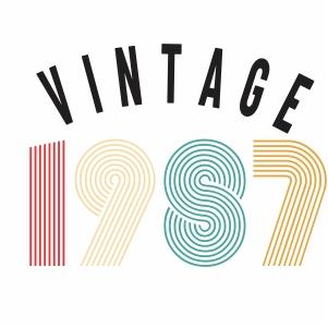 Vintage 1987 svg